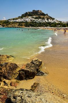 Lindos Beach - Rhodes, Greece   #travel #greece #Rhodes #beach #islands