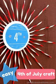 Easy 4th of July Craft... Fun!