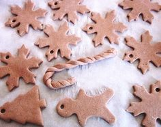 DIY ornaments - add cinnamon to the dough mix for a wonderful scented ornament