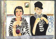 Jennifer Orkin Lewis. friends in stripes.