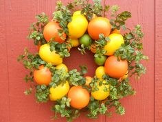 Citrus Delight  Wreath..Lemon Wreath...Orange Wreath...Spring Wreath