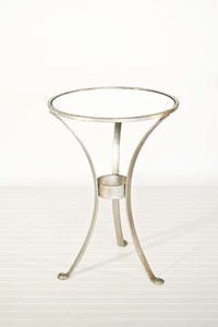 Silver Round Side Table