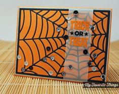 Spooky Sentiments, Spider Web Cover-Up Die-namics - Amy Rysavy #mftstamps