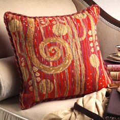 Another great pillow with a Klimt design from Candace Bahouth and Ehrman.