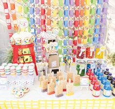 Rainbow Paint Birthday Party - Kids will love all of the colors! And our flowering party favors would be just right at this party! @LaToya Smith