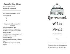 Free Brochure about the three branches of government.