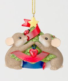 Another great find on #zulily! Charming Tails Mice Trimming Ornament by Charming Tails #zulilyfinds