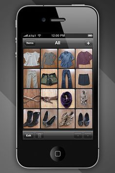 "iPhone app that allows you to inventory your entire closet and put together outfits...just got the free ""light"" version and it looks super cool!!"