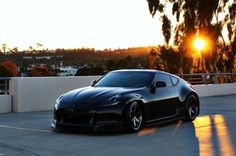 murdered out. #370z #nissan #volk #te37