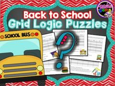 Challenge your students to improve their higher-order thinking skills with these back to school grid logic puzzles! #TpT #TeacherGems #CriticalThinking