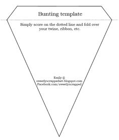 Bunting bunt templat, birthday, bunt printabl, idea, craft, buntings, diy, banner, parti