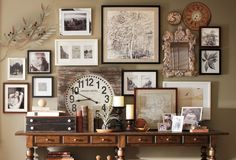 Inspiration for my entryway via Pottery Barn
