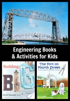 {Engineering Books & Activities for Kids}  Got kids who love to build?  Check out these great books, activities and online resources to introduce kids to simple machines & engineering!