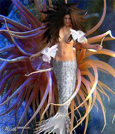 sea creatures, mythic sea, fantasi sea