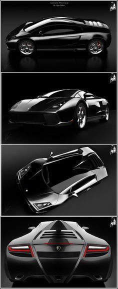 Lamborghini SPIGA Concept Car black #LuxuryCars #VintageCars #SportCars #ConceptCars