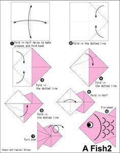 Origami Fish Instructions.