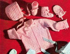 ($0.99) Knit a Baby Set – Block Set – Pattern for Boy or Girl Knitting pattern for a baby set size 6 months to 1 year. Can be knitted for baby boy or baby girl but more suited for baby girl. Pattern is for Jacket, Cap, Booties and Mittens. The stitches are simple and easy to read. The pattern is originally from a vintage pattern and re-created and formatted for digital distribution. This is a PDF download