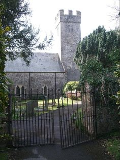 ~ church gate at St. Mary's ~ Tenby ~ Wales ~