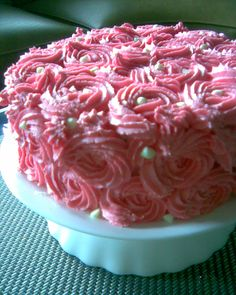 Pink Rose 2- layer Chocolate Mud Cake with buttercream frosting