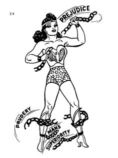 """Wonder Woman: breaking the chains of prejudice, prudery and man's superiority since 1941."" (Art by H.G. Peter)"