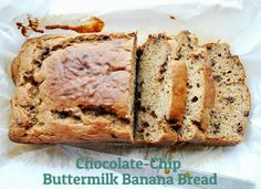Chocolate chip buttermilk banana bread via @Honey What's Cooking