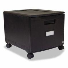 Storex Single-Drawer Mobile Filing Cabinet, 14-3/4w x 18-1/4d x 12-3/4h, Black (STX61259B01C)