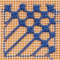 Woven circle fill stitch