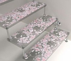 cute floral stairs