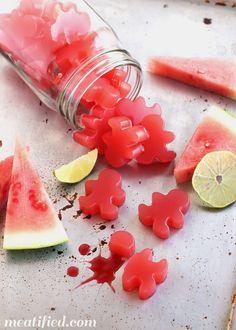 Healthy Sour Watermelon Gummies - just 4 ingredients!