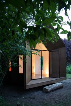 The Hermit Houses - great design, CNC ready design, 2 day setup, perfect getaway cottage OR emergency shelter for disaster areas...how wonderful to have the chance for great design in the midst of chaos. Courtesy of The Cloud Collective