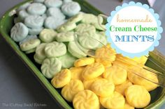 Easy Cream Cheese Mints (The Cutting Back Kitchen).