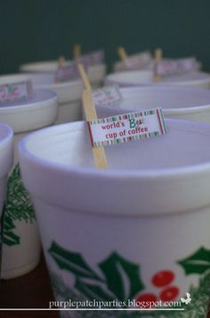 elf parti, christmas parties, theme christma, cup of coffee, christma parti, movi parti