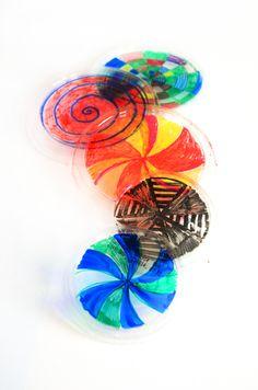 Make Recycled Kaleidoscope frisbees   willowday