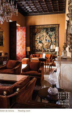 Salón de Lectura, Palacio Domecq, Jerez de la Frontera (Cádiz, España)  http://www.palaciodomecq.com/ #PalacioDomecq #Jerez #Palacio