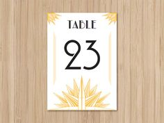 Instant Download Wedding Table Numbers Deco Blanc by merrymint, $15.00