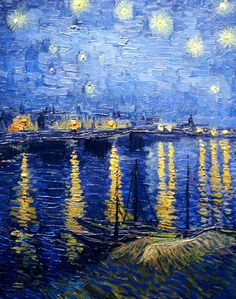 Vincent van Gogh's Starry Night Over the Rhone, 1888.