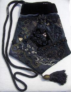 Black on Black Crazy Quilt Purse   Flickr - Photo Sharing!
