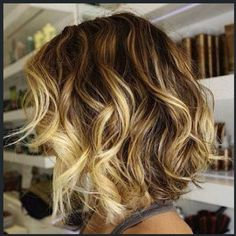 Spring/summer hair - lots of highlights in the front.