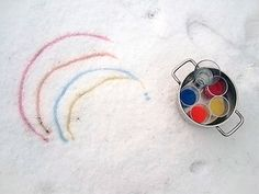 DIY Snow Painting for Kids
