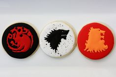 Game of Thrones cookies. Awesome.