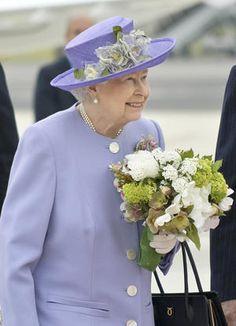 Queen Elizabeth II arrives at Rome's Ciampino military…