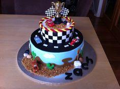 cars cake | In: Disney Cars in album: Children's Birthday Cakes