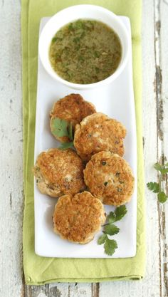 easy thai fishcakes with a chilli-lime dipping sauce