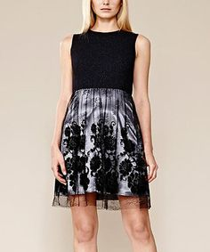 Look what I found on #zulily! Black & Gray Lace Overlay Dress by Julia Jordan #zulilyfinds