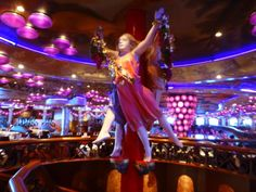 Decorations at the entry of the Bacchus Dining Room on the Carnival Miracle