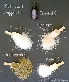Homemade Lavender Bath Salt Tutorial - EverythingEtsy.com