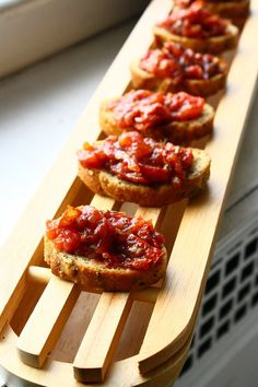 Roasted Tomato and Garlic Crostini