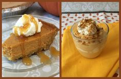 Learn how to make Pumpkin Pie and Pumpkin Mousse. The pumpkin pie is an easy traditional Thanksgiving recipe and the pumpkin mousse is a fun alternative to Thanksgiving dessert.