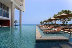 pool over ocean