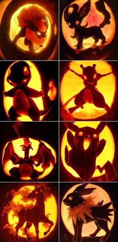 Pokemon pumpkin carving! SO FREAKING AWESOME!